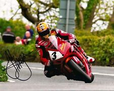 John McGuinness - 2013 Isle of Man TT Autographed 10 x 8 Picture.