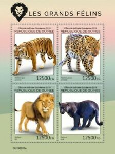 Guinea - 2019 Big Cats on Stamps - 4 Stamp Sheet - GU190203a