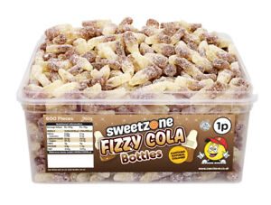 Sweetzone Fizzy Cola Bottles 600 Pieces Halal HMC Sweets Tubs
