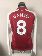 RAMSEY #8 BNWT Arsenal Long Sleeve Home Football Shirt Jersey 2017/18 (L)