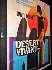 DESERT VIVANT    affiche cinema  disney aventure 1953