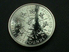 GREAT  BRITAIN    5  Pounds    1993     PROOF   ,   NO  YELLOW  TONING !