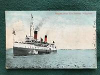 Niagara River Line Steamer Steamship SS CHIPPEWA Color Litho 1907
