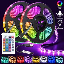LED Strip Lights 5050 RGB Colour Changing Tape TV Under Cabinet Kitchen Lighting