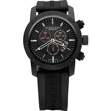 BURBERRY BU7701 Endurance Chronograph Black Dial Black PVD Men's Watch