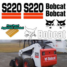 Bobcat S220 S 220 Skid Steer Set Vinyl Decal Sticker 7 PC SET + DECAL APPLICATOR