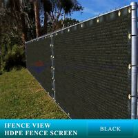 Ifenceview 6'x3'-6'x50' Black UV Fence Privacy Screen Mesh Fabric Garden Outdoor