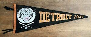 1939 DETROIT TIGERS BASEBALL PENNANT - FULL SIZE - VERY RARE