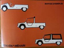 Notice d'emploi - Citroën Méhari