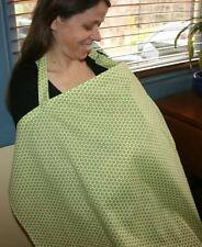 Green Circles Breastfeeding cover/ Nursing Cover - NEW