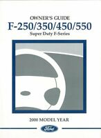 OEM Maintenance Owner's Manual Bound for Ford Truck F250 - F550 2000