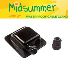 BLACK Waterproof Twin Double Cable Roof Entry Gland caravan motorhome