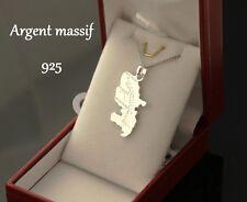 Pendentif MARTINIQUE avec sa chaine et ecrin pour offrir en Argent Massif 925