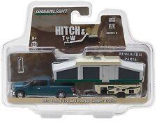 1:64 GreenLight *HITCH & TOW 8* 2015 F150 Pickup w/POP UP CAMPER TRAILER NIP!