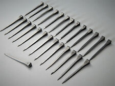 65mm Lot de 27 anciens clous en fer forgé,Tête Carré 9X8 mm,serrure,Porte,Déco