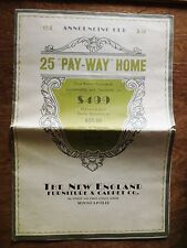 1930s New England Furniture Carpet Furnished Rooms Promo Foldout Minneapolis MN