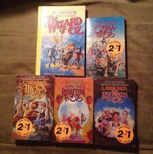 Lot of 5 Wizard of Oz books - Ozma, Tiki Tok, Rinkitink, Lost Princess