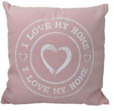 "Kissen Sofakissen Couchkissen ""I Love my Home"" pastell rosa ca. 40 x 40 cm"