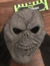 Horror Mask in PVC,Monster Fancy Dress Party Scary  Hooded Grey Masks