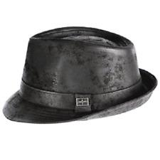 c684ca94118 Karma Accessories Eureka Camden Leather Snap Brim Black or Olive Trilby Hat