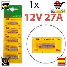 1 PILAS PILA 27A MN27 12 V batería alcalina *Envío GRATIS desde España*