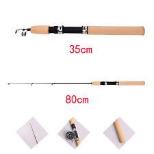 Portable 80CM Shrimp Winter Ice Fishing Rod Fish Tackle Pole Rods Telescopic JO