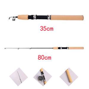 Portable 80CM Shrimp Winter Ice Fishing Rod Fish Tackle Pole Rods Telescopic`hg