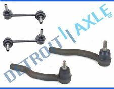 New Set of (4) Front Outer Tie Rod Ends + Sway Bar End Links for Mazda CX-7