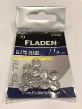 10 Fladen Fishing Clear Glass / Plaice Beads For Rigs 8mm   15-5007