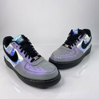 Nike Air Force 1 Low Mens Sz 9 CMFT Hologram Basketball Shoes 579941-101