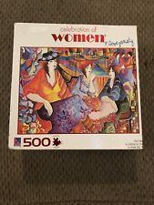 500 Pc Puzzle~Celebration of Women~Ladies Outdoor Teatime by Patricia Govezensky
