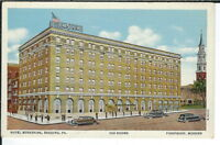 CB-300 PA, Reading, Hotel Berkshire, Linen Postcard, Old Cars Front View