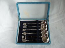 6 x JAPANESE SPOONS STERLING SILVER CIRCA 1930