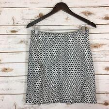 Woman's Ann Taylor Size 2 Floral Lace Cotton A- Line Skirt Black/White
