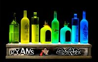 2' LIGHTED LIQUOR BOTTLE DISPLAY color MAN CAVE BAR SIGN BUILT IN PERSONALIZED