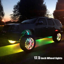 17.5'' Chasing Flow Wheel Lights Brightest Double Row Waterproof Bluetooth Ctrl