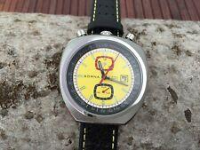 Bullhead SORNA automatic watch tachymeter scale yellow version new unworn
