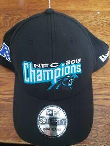 Carolina Panthers NFL New Era 2015 NFC Champions Flex Cap Hat 39THIRTY, lrg-xlg