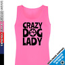 Ladies Crazy Dog Lady Vest • Tank Top Puppy Pet Lover Secret Santa Gift Cute