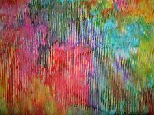 Hoffman Bali Batik Lines P2024-130 Multi Cotton Batik Fabric BTY