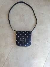Cath Kidston Leather Button Spot Saddle Bag - NEVER BEEN USED