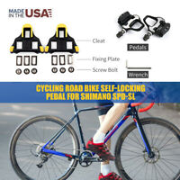 Cycling Road Bike Self-Locking Pedals for SHIMANO SPD SL Road Clipless Pedal