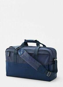NWT $198 Peter Millar Men's Crown Sport Seal Navy Duffel Bag AS19EA100