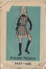 vintage 70s Marian Martin girls dress pattern uncut jumper blouse sz 8 pleated