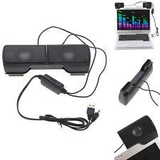 Mini Portable Clipon Usb Stereo Speaker Soundbar For Laptop Notebook Mp3
