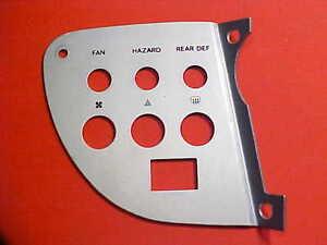 Ferrari Dino 308 Dashboard Panel Trim GT/4 Hazard_Seat Belt Switch Plate OEM