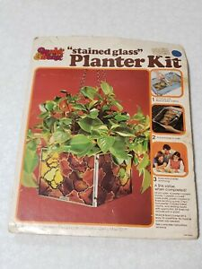 "Vintage Make It Bake It ""MAKIT & BAKIT"" planter Stained Glass kit Never Opened"