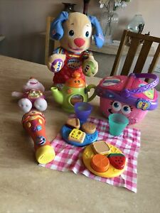 Leapfrog Toy Bundle Picnic Basket With  Tea Pot And Other Toys