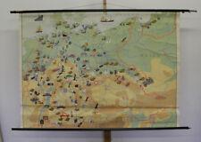 Murs Carte de l'Allemagne Industrie U. Transports Vintage Wall Map 158x114cm ~ 1960
