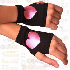 Lovely Day Lingerie Raver Punk Goth Emo Stars Peace Heart Finger Gloves 3 Pack